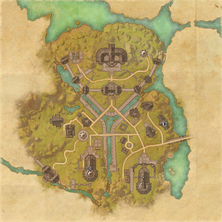 TES Online, Map of Auridon