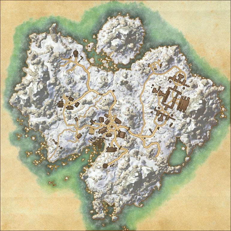 TES Online, Map of Bleakrock Isle