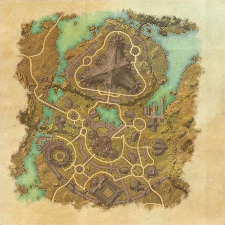 TES Online, Map of Deshaan on