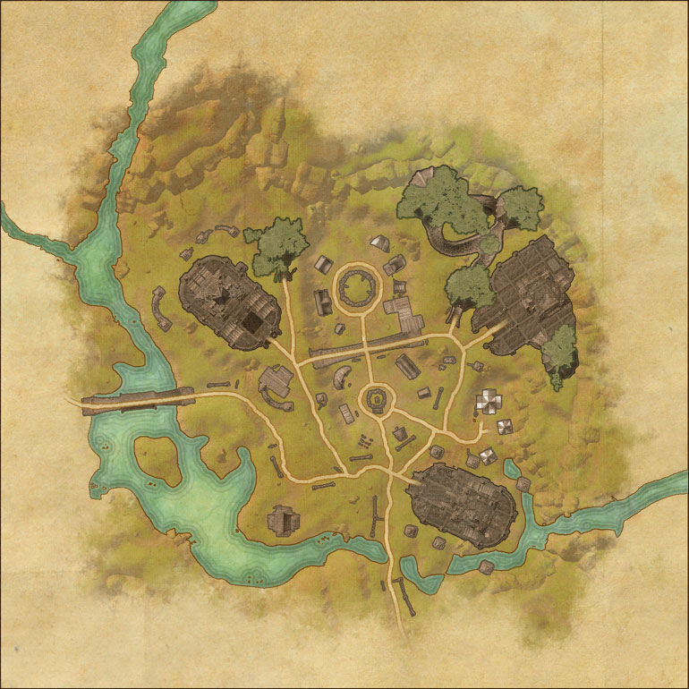 TES Online, Map of Grahtwood