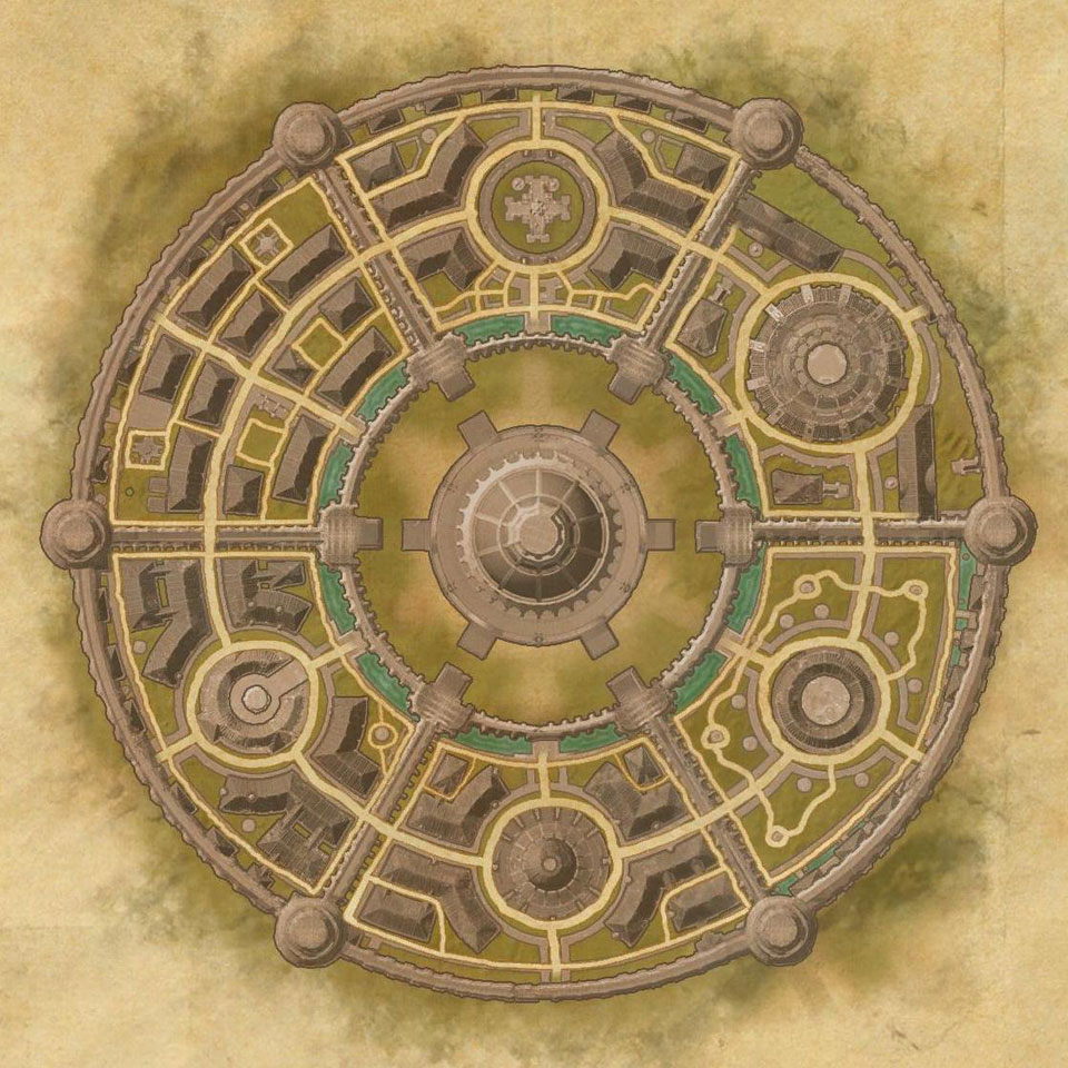 Imperial City Map TES Online, Map of Imperial City