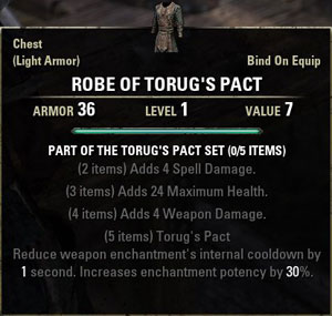 TES Online, Armor and Weapon Sets